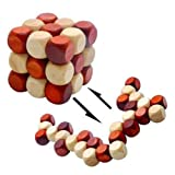 MAGIKON Wooden Brain Teaser , Snake Cube , Puzzle toy 60mm 2nd Version