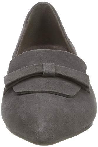 21 Women''s Grey 206 Tamaris Loafers 24200 graphite qfCWS4PwE
