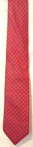 Hermes Designer Ties Silk Necktie - Famous Maker H Tie, Famous Maker Paris Silk Tie, Designer Silk Tie, Salmon Silk Tie