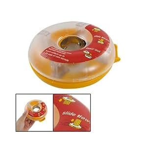 TOOGOO(R) Yellow Clear Donut Shaped One Step Corn Peeler