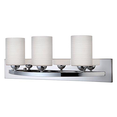 Chrome 3 Light Vanity (Canarm Luztar Hampton 3 Bulb Vanity Light - Chrome finish)