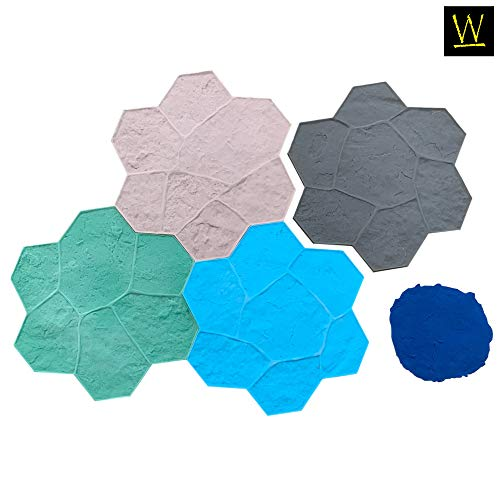 Random Rock Concrete Stamp Set by Walttools | Decorative Stone Tile Pattern, Sturdy Polyurethane Texturing Mats, Realistic Detail (5 Piece)