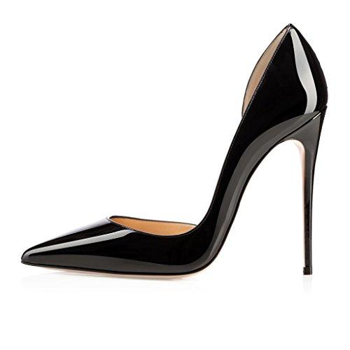 Mariage Edefs Stilettos 45 Grande Aiguille Chaussures Noir 35 Soiree Femmes Taille Escarpins Talon zRHzBn