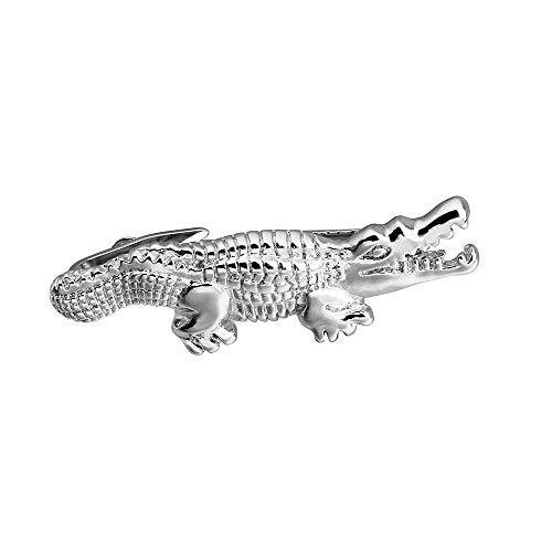 HAWSON Crocodile 2 inch Tie Clip for Men-Novelty Animal Necktie Bar Clip,Tie Pin,Special Interesting Gift for Men