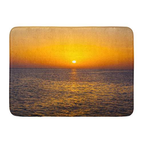 Emvency Doormats Bath Rugs Outdoor/Indoor Door Mat Ocean Sunset Landscape Sea Sun Sunbeam Sunlight Sunny Sunrise Bathroom Decor Rug Bath Mat 16