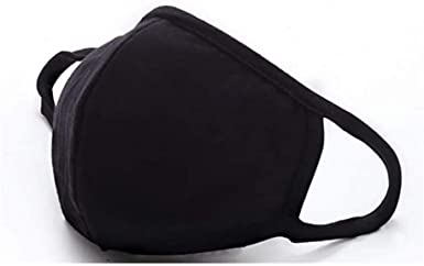 Washable Reusable Cotton Lood 【USA in Stock】 5 pcs Summer Breathable Face Bandanas Outdoor Anti Dust for Daily Use Black
