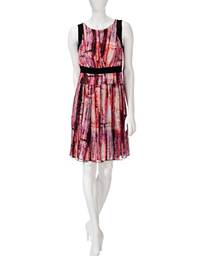 Print Abstract amp; Fit Dress Satin Flare JAX Multi q7BXIwv