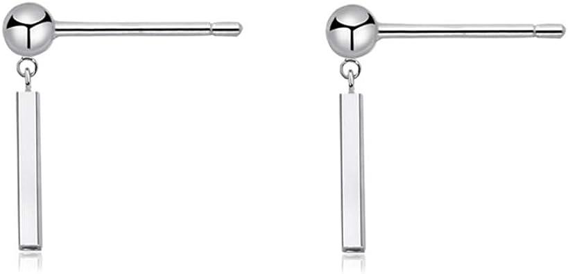 Sterling Silver Bar Earrings Sterling Silver Stud Earring Minimalist Silver Jewellery
