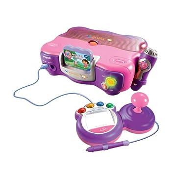 VTech - Console de jeu VSmile rose livrée avec Dora l