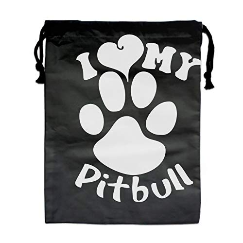 Dust-proof Drawstring Storage Pouch Bag Pitbull Paw Custom Travel Lingerie -