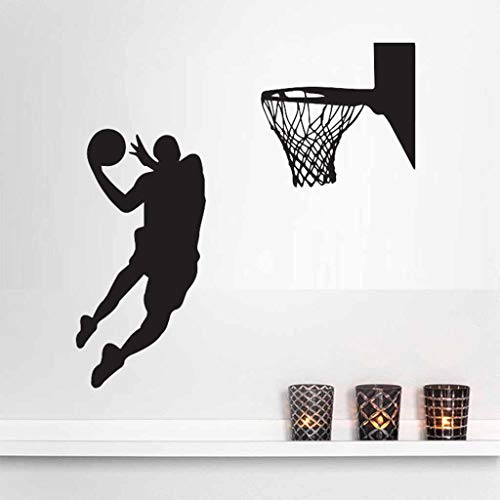 JDgoods Slam Dunk Basketball Player Wall Stickers, Removable DIY Wall Art Stickers Decor Wall Stickers Murals for Living Room TV Background Kids Gilrs Rooms Bedroom Decoration