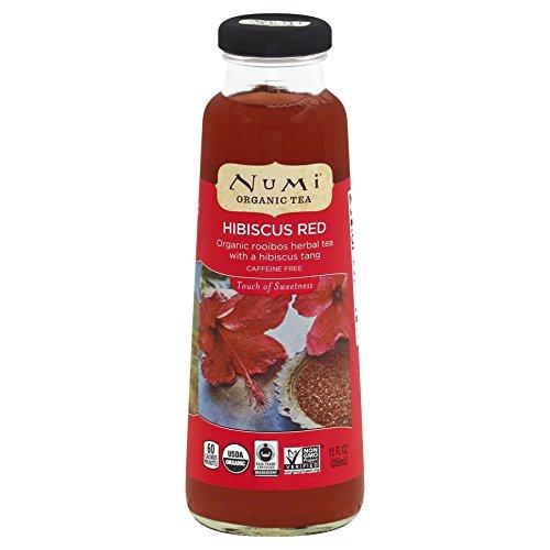 Numi Organic Bottled Tea, Hibiscus Red Herbal Tea, Caffeine-Free, 12 Fluid Ounces