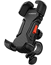 SEVEN SPARTA Bike Phone Mount Holder Motorcycle Phone Mount for Handlebar Accessories Compatible with iPhone 12 12 Mini 12 Pro Max 11, Galaxy and Other 4.7-6.8 Inches Cellphones