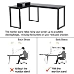 Computer Desk, LASUAVY L-Shaped Large Corner PC Laptop Study Table Workstation Gaming Desk for Home and Office – Free…