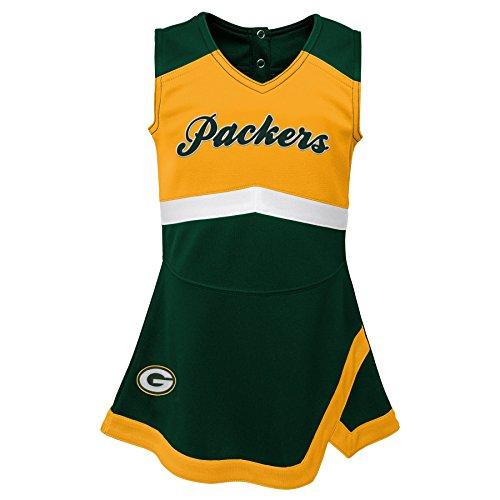 Outerstuff NFL NFL Green Bay Packers Infant Cheer Captain Jumper Dress Hunter Green, 24 Months