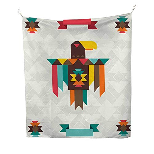 SouthwesterntapestryEthnic Composition with an Eagle in Native American Style Folk Totem Symbol 40W x 60L inch Wall tapestryMulticolor