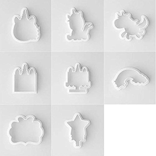 Unicorn Cookie Cutter with Matching Stencils - American Confections - Set of - Audrey Shape Face Hepburn