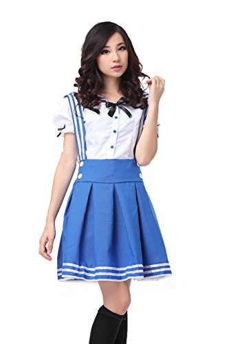 [Lemail wig Women's Sweet Maidservant Outfit Cosplay Sailor Suit GC12B-3XL] (Halloween Outfits Ladies)
