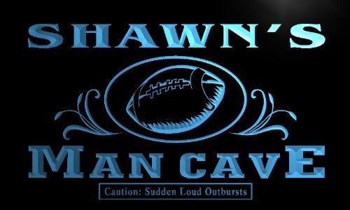 - ADVPRO x0092-tm Shawn's Man Cave Football End Zone Custom Personalized Name Neon Sign