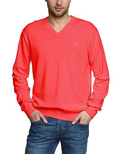 watermelon Red Cotton Maglia V Weight Melange Lt Gant Uomo Rosso neck 699 EZzX8wWZcq