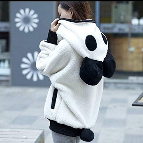 Winter Panda Ear Capispalla Bear Donna Animal Bianca Cappotto Coat Hoodie Mode Tops De Outwear Carino Warm Marca Cute tqwBC