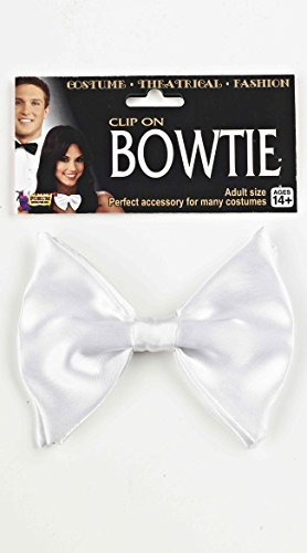 White Clip-On Bowtie (Bow Tie Halloween Costumes)