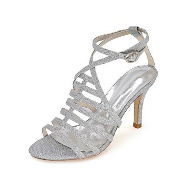 Gold 5 5 US5 Ruby Glitter Women'S Slingback Sandals RTRY EU36 Ring CN35 Silver Wedding Toe Summer Black Party Stiletto 3 Spring amp;Amp; Blue Evening 3 3In Heel 4In UK3 UZpZxw