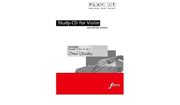 Concertino D-Dur op.25 +CD Oskar Rieding - für Violine und Klavier