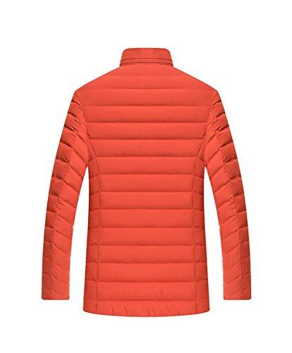 Pelo Corto Inverno M Alto Antivento Leggero 3xl Arancio Caldo Maschile' Piumino Autunno Cerniera Collo Sottile XxqIXd