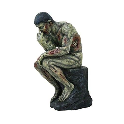 (Ky & Co YK Zombie Thinker LE PENSEUR ROTTING Sculpture Statue Resin Figurine)