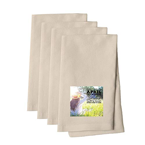 Dazzling Sunlight Shower In The Meadow #2 Cotton Canvas Dinner Napkin, Set of - Meadow 2 Canvas