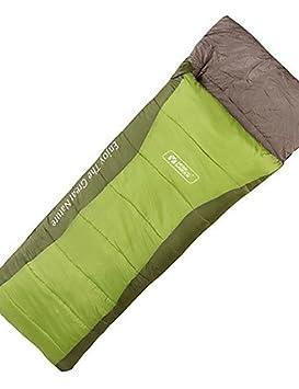 Saco de dormir rectangular bolsa única -5? hueca Algodón 300 G 220 x 75 de viaje impermeable Mobi jardín, verde: Amazon.es: Deportes y aire libre