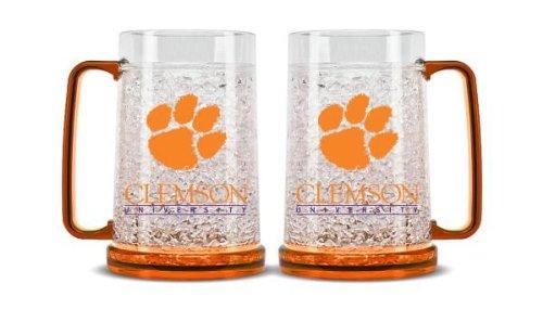 Duck House NCAA Clemson Tigers 16oz Crystal Freezer (Ncaa Crystal Mug)