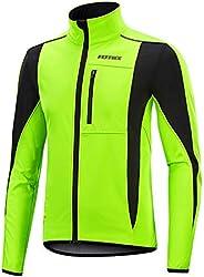 Men's Thermal Fleece Cycling Jacket Bicycle MTB Road Bike Jackets Long Jersey Breathable Reflective Softsh