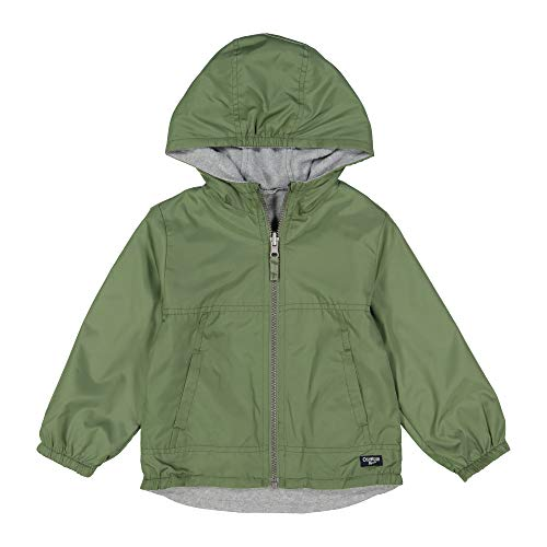 - Osh Kosh Boys' Toddler Midweight Reversible Jacket, Olive to Beige with Stripes 4T