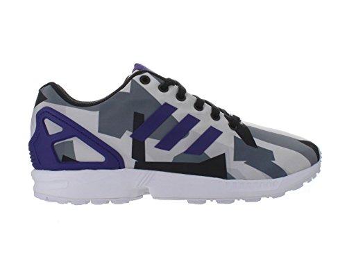 Heren Adidas Zx Flux Wit / Paars 11 Atletisch B34517