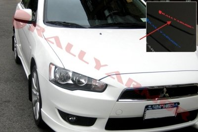 Rally Armor MF8-UR-BLK/RD Black, Red Mud Flap with Logo (2007+ Mitsubishi Lancer (doesn't fit Sport back) UR), 1 Pack
