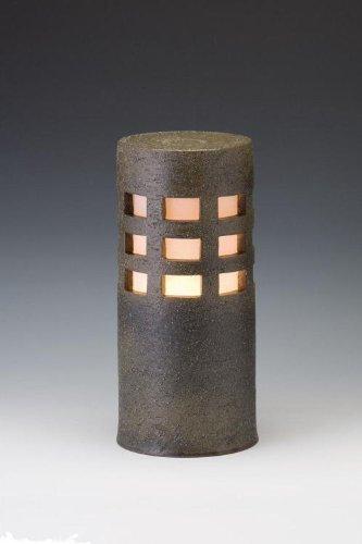 信楽焼ガーデンライト千のあかり(モスグリーン)直径12.5cm×高さ29cm(屋外用防雨型和風ライト) 日本製 B00476LKB6 19440