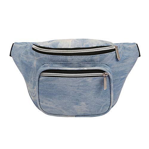 HDE Fanny Pack [80's Style] Waist Pack Outdoor Travel Crossbody Hip Bag -