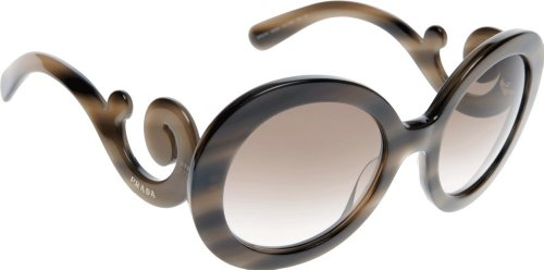 Prada 27NS IAX0A6 Striped Brown 27NS Round - 27ns Prada Sunglasses