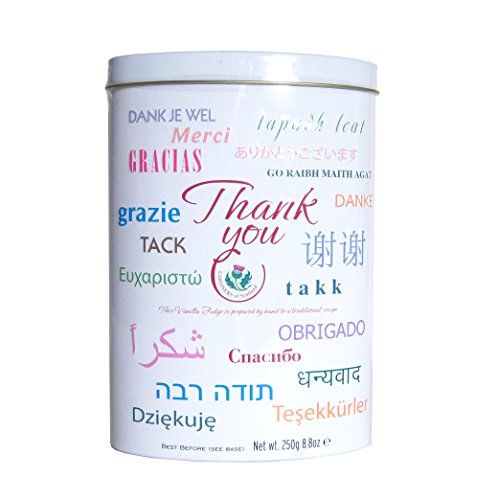 Gardiners of Scotland Vanilla Fudge Thank You Tins, Thank You, 8.8 - Thank You Gift For The