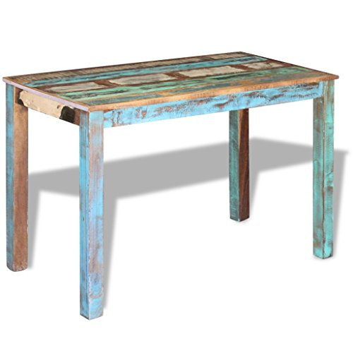 Daonanba Antique-Style Stable Sturdy Dining Table Solid Reclaimed Wood 45.3