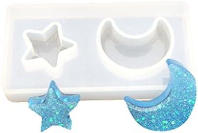 dailymall スタームーン半透明シリコーン金型フォンダン金型ケーキデコレーションツールチョコレートカップケーキGumpaste金型ベーキングツール