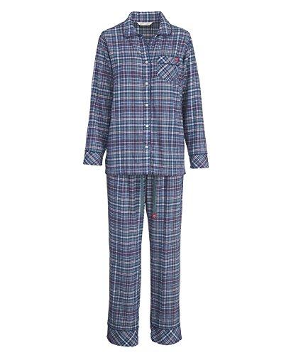 Woolrich Women's First Light Flannel Pajama Set, Neptune (Blue), Size L