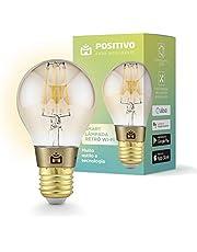 Smart Lâmpada Retrô Wi-Fi Positivo Casa Inteligente, filamento LED 7W, Bivolt - Compatível com Alexa