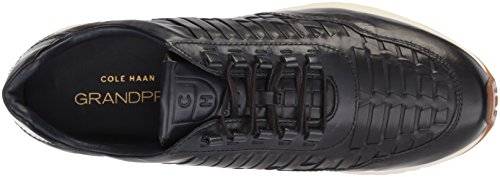 Cole Haan Heren Grandpro Runner Huarache Sneaker Marine Geweven Polijsten