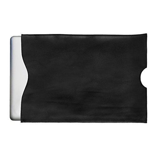 (Durable Leather Computer Sleeve (15