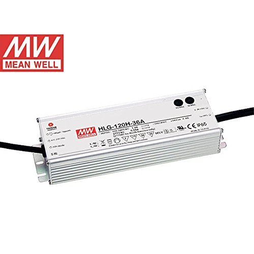 Mean Well HLG-120H-36A 120W 36V 3.4A Power Supply LED Driver Water & Dust-proof