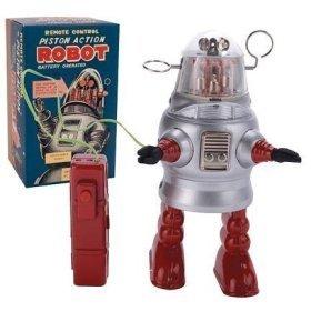 Remote Control Piston Action Robot Tin Toy