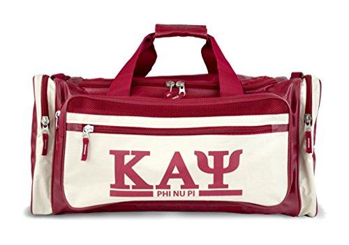 Kappa Alpha Psi Fraternity Men's new Duffel Bag Crimson Red by Big Boy Headgear